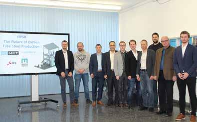 Das Projektteam des Lehrstuhls für Eisen- und Stahlmetallurgie