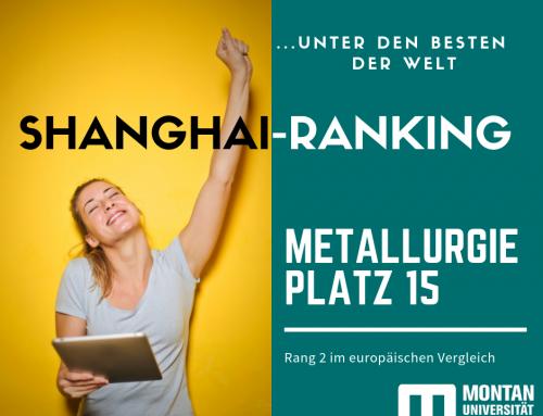 SHANGHAI-RANKING: METALLURGIE UNTER DEN BESTEN DER WELT
