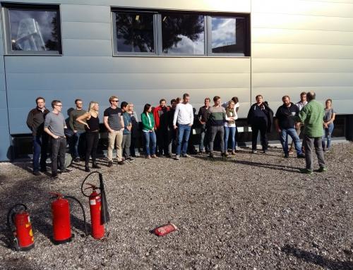 Brandschutzübung am Lehrstuhl für Eisen- und Stahlmetallurgie